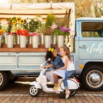 Kids fashion from Tugboat and the Bird with Dahlia's flower truck